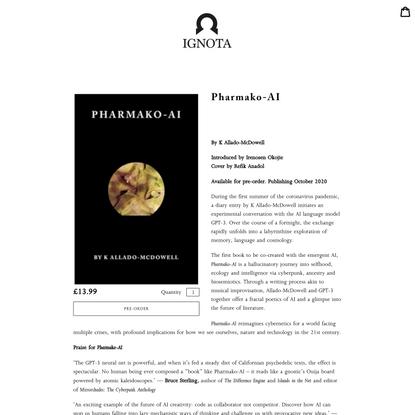 Pharmako-AI