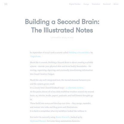 Building a Second Brain: The Illustrated Notes