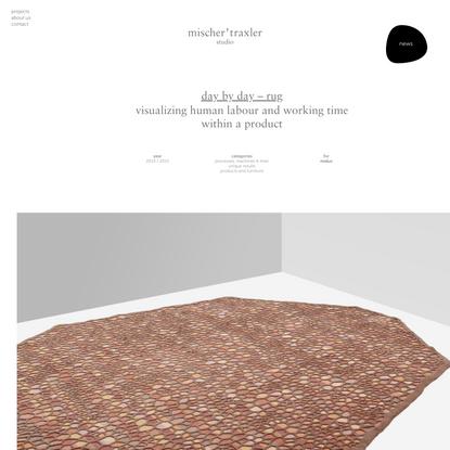 day by day – rug – mischer'traxler studio