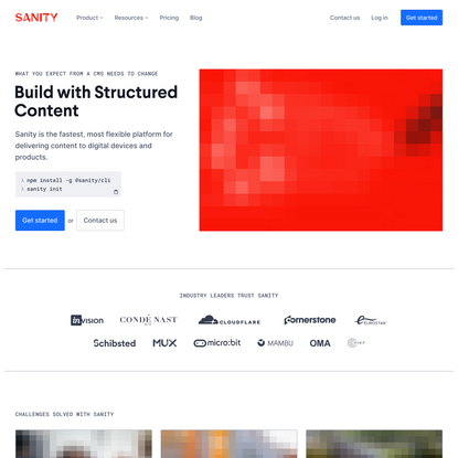 The Platform For Structured Content - Sanity.io