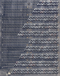 """""""Cars await processing at the Port of Richmond, located on San Francisco Bay in California. Richmond handles the most automobile cargo of any port on the San Francisco Bay, processing at least 150,000 vehicles every year. Yesterday, the state of California announced that a statewide ban on the sale of new gasoline-powered cars will be in place by 2035 — part of the state's efforts to combat global warming amid a record-setting year of wildfires."""""""