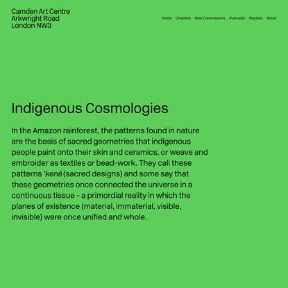 Indigenous Cosmologies — The Botanical Mind