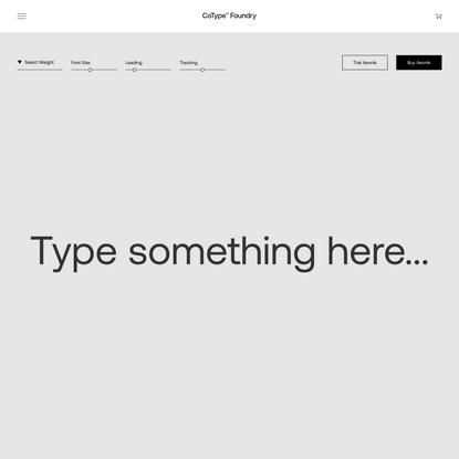 Aeonik – CoType Foundry
