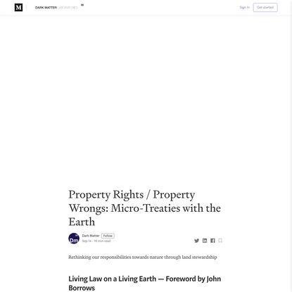 Property Rights / Property Wrongs: Micro-Treaties with the Earth