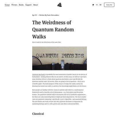 The Weirdness of Quantum Random Walks