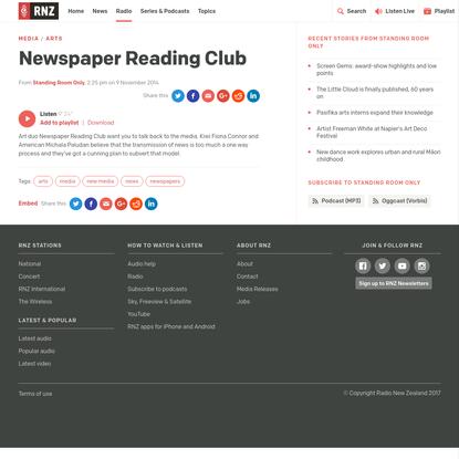 Newspaper Reading Club