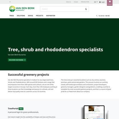 Tree, shrub & rhododendron specialist | Van den Berk Nurseries
