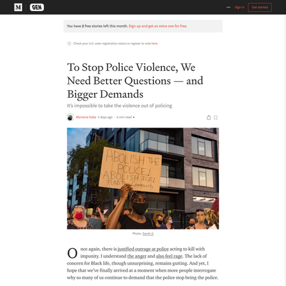 To Stop Police Violence, We Need Better Questions—and Bigger Demands