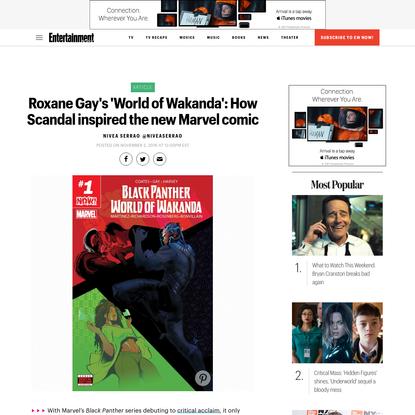 Roxane Gay details her new Marvel comic, 'World of Wakanda'