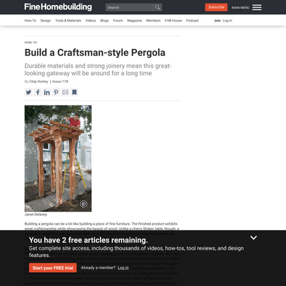 Build a Craftsman-style Pergola - Fine Homebuilding