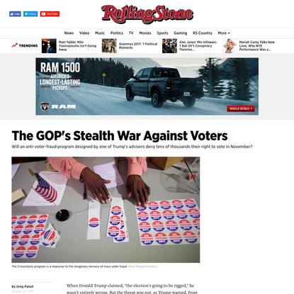 The GOP's Stealth War Against Voters