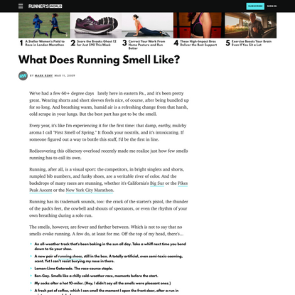 What Does Running Smell Like?