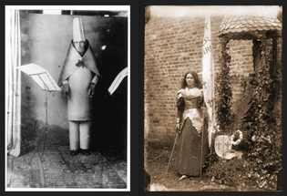 Hugo Ball as the Bishop / St. Therese as St. Joan of Arc