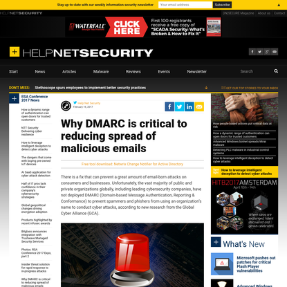 Why DMARC is critical to reducing spread of malicious emails - Help Net Security