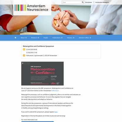 Metacognition and Confidence Symposium