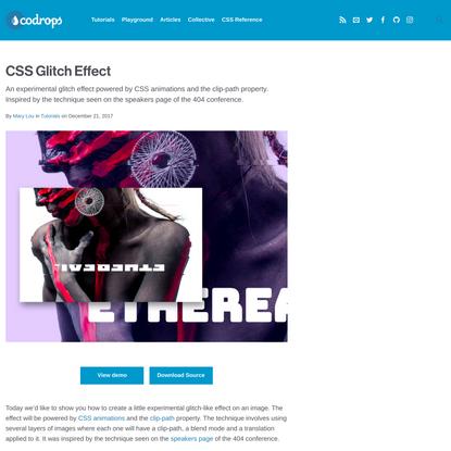 CSS Glitch Effect | Codrops