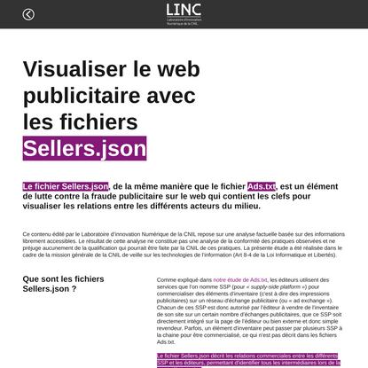 Visualiser le web publicitaire avec les fichiers Sellers.json