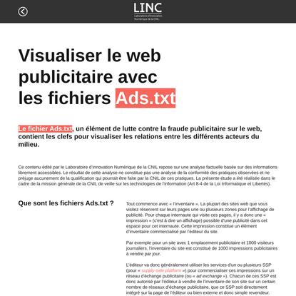Visualiser le web publicitaire avec les fichiers Ads.txt
