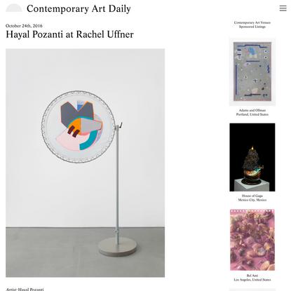 Hayal Pozanti at Rachel Uffner (Contemporary Art Daily)