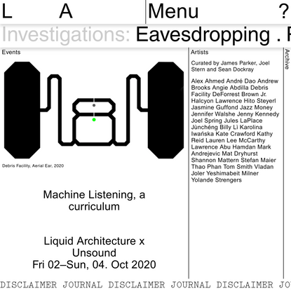 Machine Listening, a curriculum | Liquid Architecture