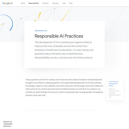 Responsible AI Practices – Google AI