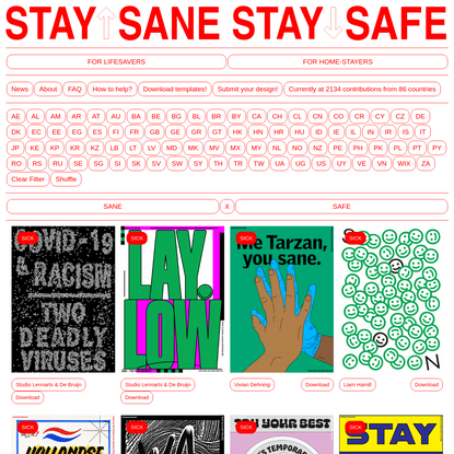STAY SANE / STAY SAFE | Home