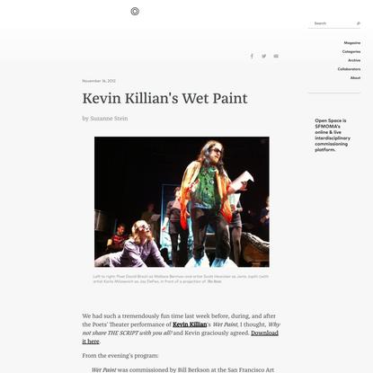 Kevin Killian's Wet Paint