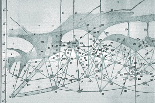Mars map by Percival Lowell (1855–1916)