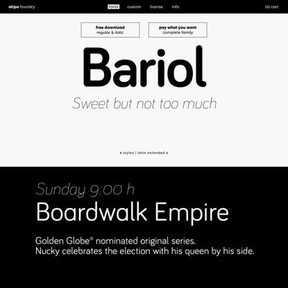 bariol | atipo foundry