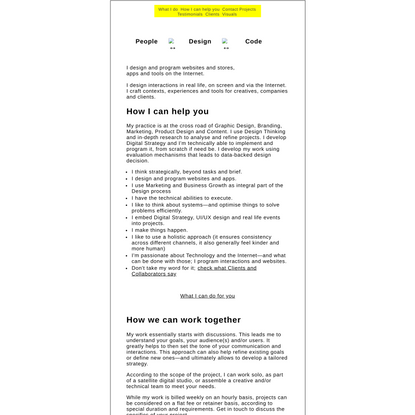 Interaction Design / Jerome Rigaud