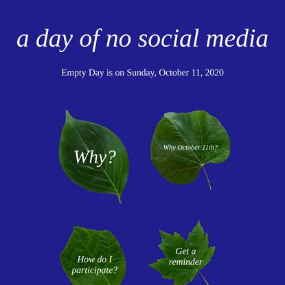 a day of no social media