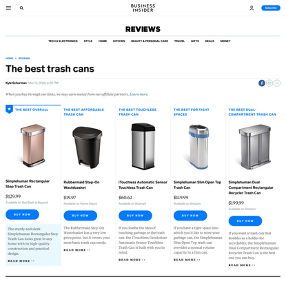 The best trash cans