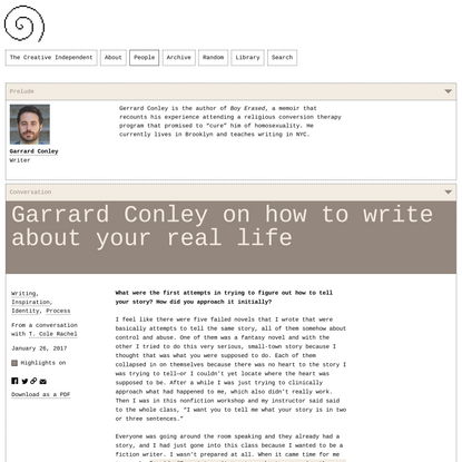 Garrard Conley on How to Write About Your Real Life