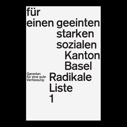 "selected work on Instagram: ""By Emil Ruder, Radikale Liste 1, Poster, 1960"""