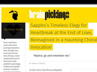 Sappho's Timeless Elegy for Heartbreak