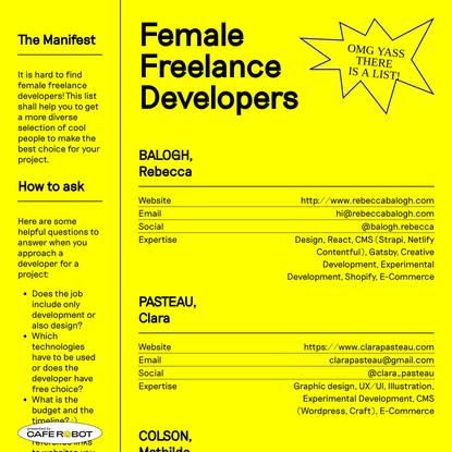 Female Freelance Developers