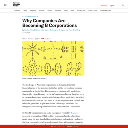 Why Companies Are Becoming B Corporations