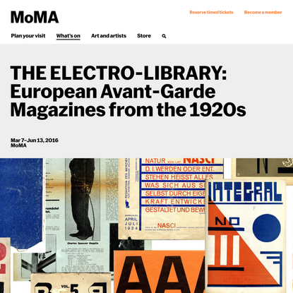 THE ELECTRO-LIBRARY: European Avant-Garde Magazines from the 1920s   MoMA