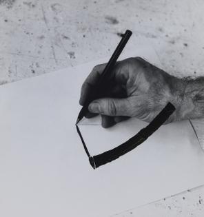 William Wegman, Drawing Hand, 1975