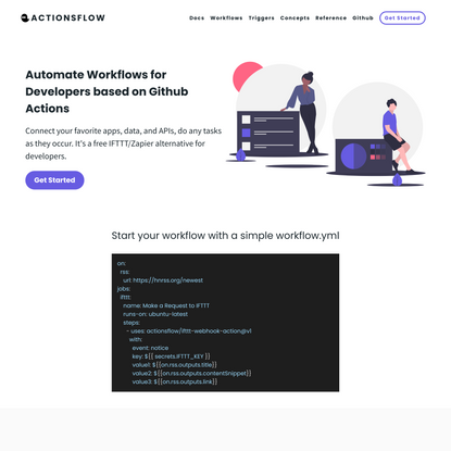 Actionsflow - Connect your APIs, automate your work for developers