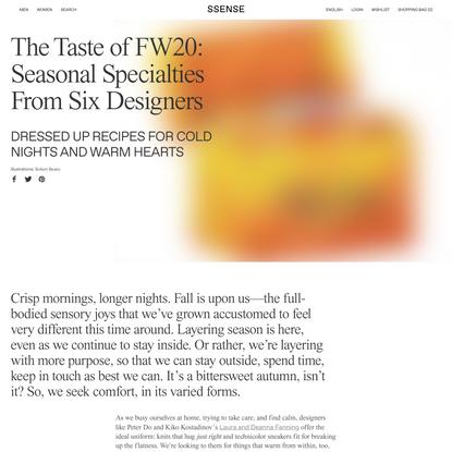 The Taste of FW20: Seasonal Specialties From Six Designers