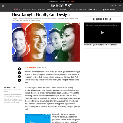How Google Finally Got Design