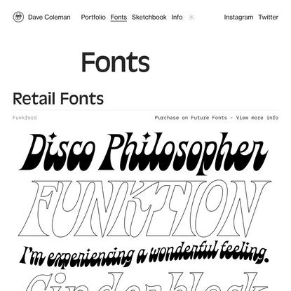 Fonts — Dave Coleman | 2D Animator & Illustrator