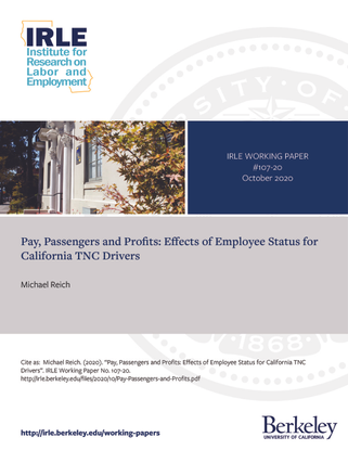Pay, Passengers and Profits: Effects of Employee Status for California TNC Drivers