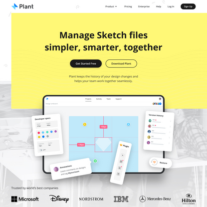 Version control app and Sketch plugin for designers | Plant