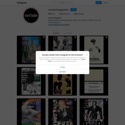 Certain Magazine (@certainmagazine) • Instagram photos and videos