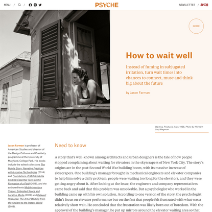 How to wait well | Psyche Guides