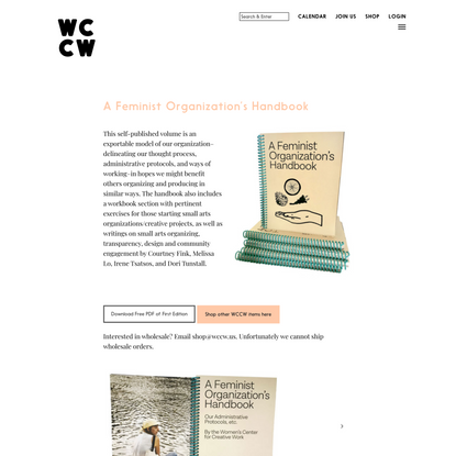 A Feminist Organization's Handbook | WCCW