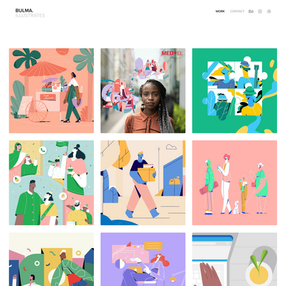 Bulma illustrates | Commercial illustrator creating for Brands, Editorials and Explainer videos