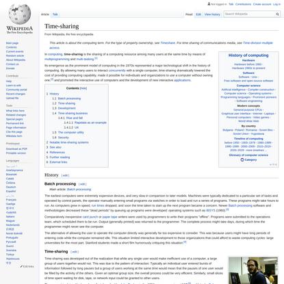 Time-sharing - Wikipedia